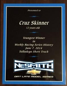 cruz NeSmith Racing Awards banquet 2015