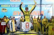 LOUDON, NH - SEPTEMBER 27:  Matt Kenseth, driver of the #20 Dollar General Toyota, celebrates in Victory Lane after winning the NASCAR Sprint Cup Series SYLVANIA 300 at New Hampshire Motor Speedway on September 27, 2015 in Loudon, New Hampshire.  (Photo by Sean Gardner/Getty Images)