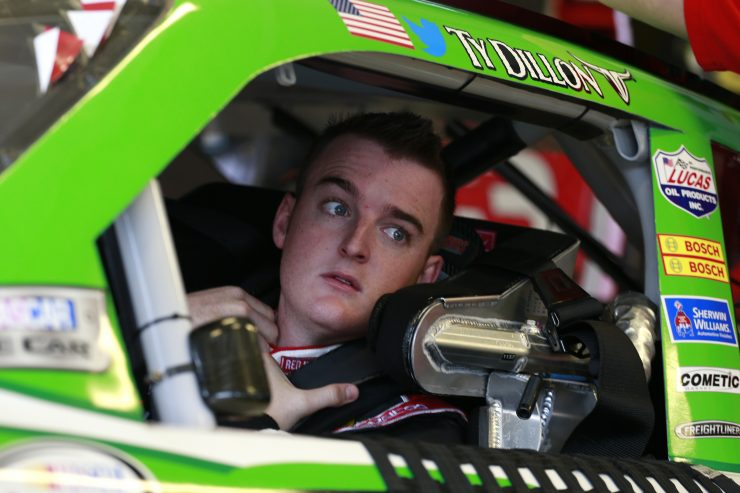 SPARTA, KY - JULY 07: Ty Dillon, driver of the #3 Red Kap/Alsco Chevrolet, sits in his car during practice for the NASCAR XFINITY Series Alsco 300 at Kentucky Speedway on July 7, 2016 in Sparta, Kentucky.  (Photo by Matt Sullivan/Getty Images)