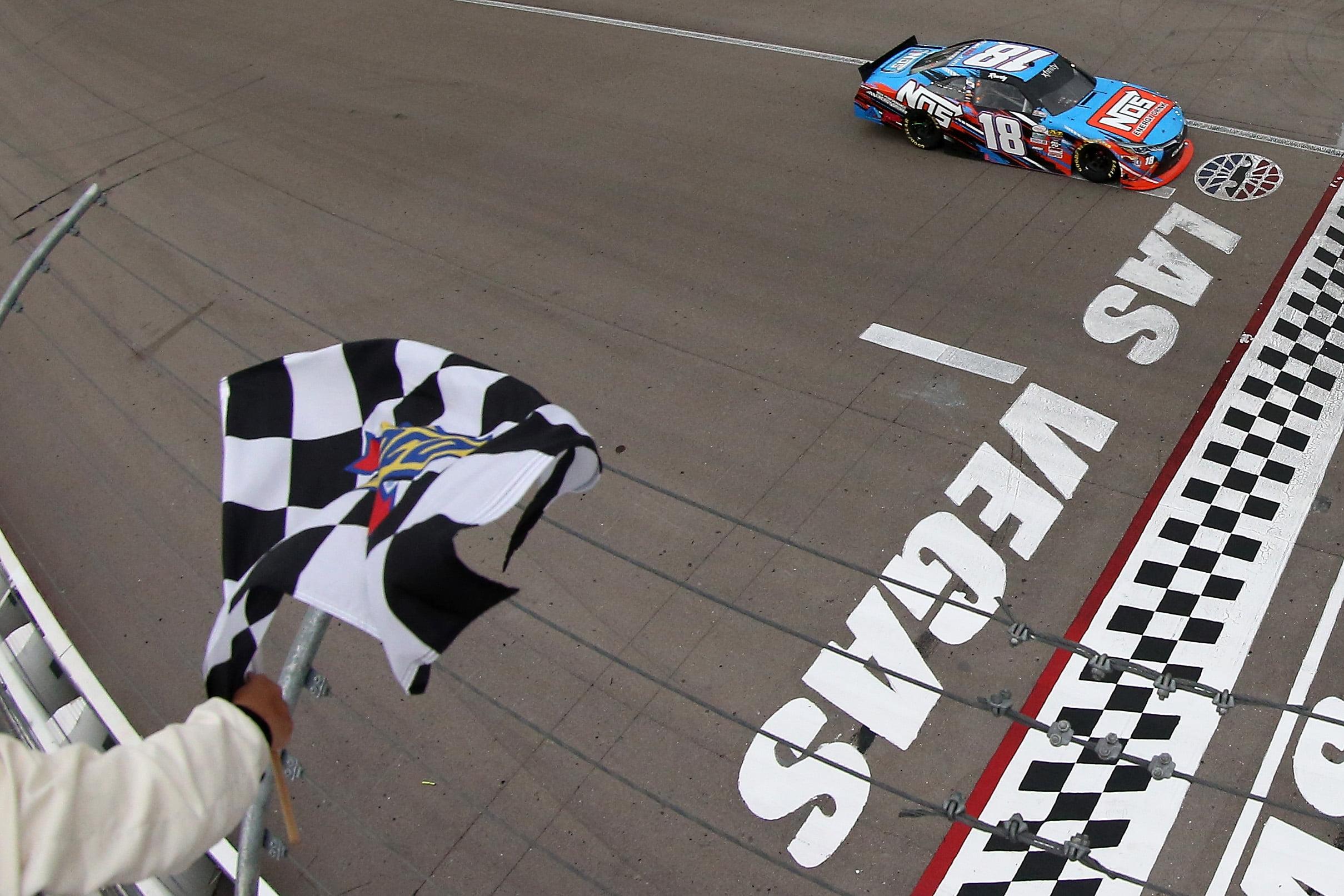 Kyle Busch leads JGR sweep of Las Vegas XFINITY race