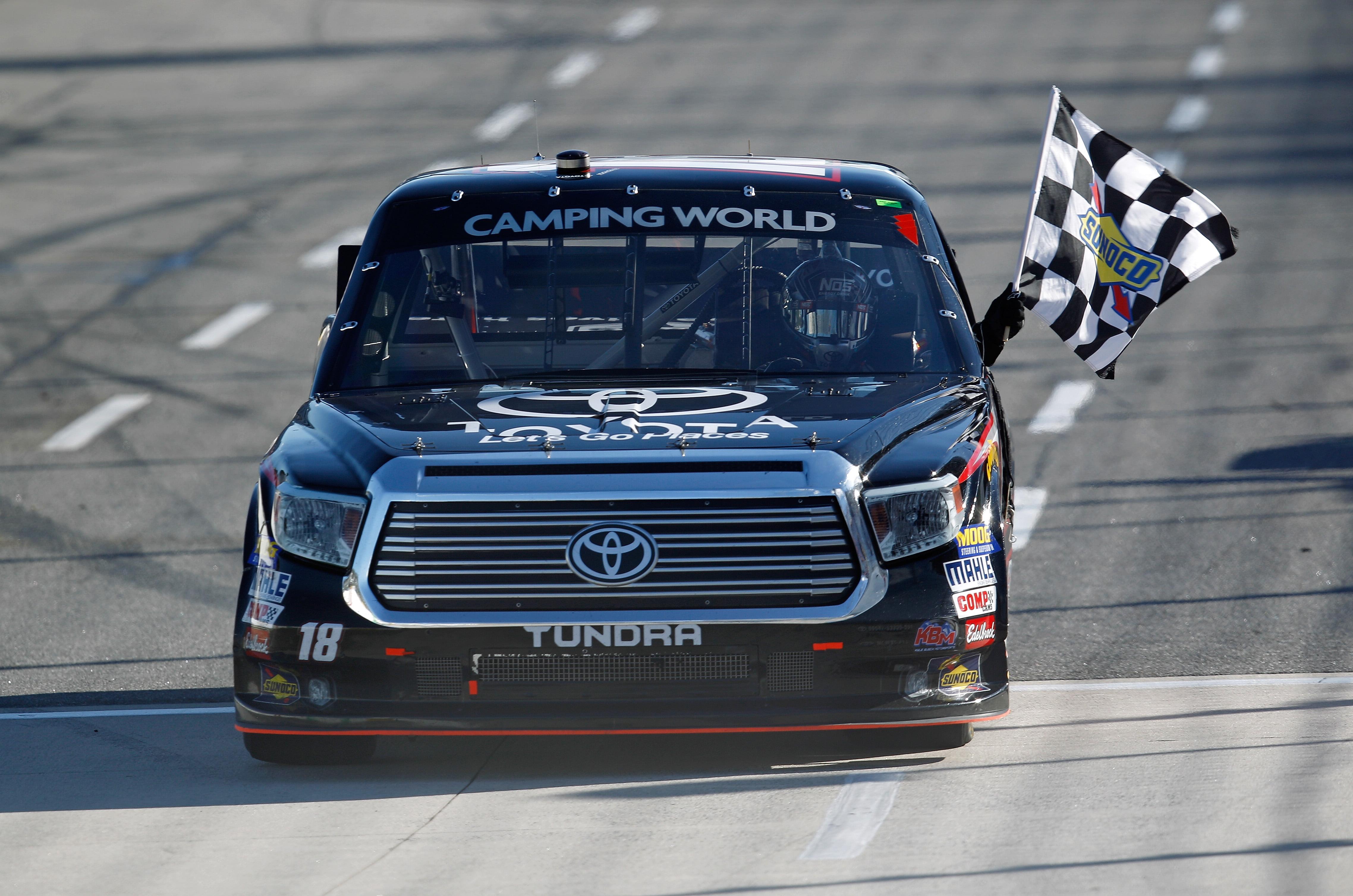 Kyle Busch breaks Martinsville drought with truck race win