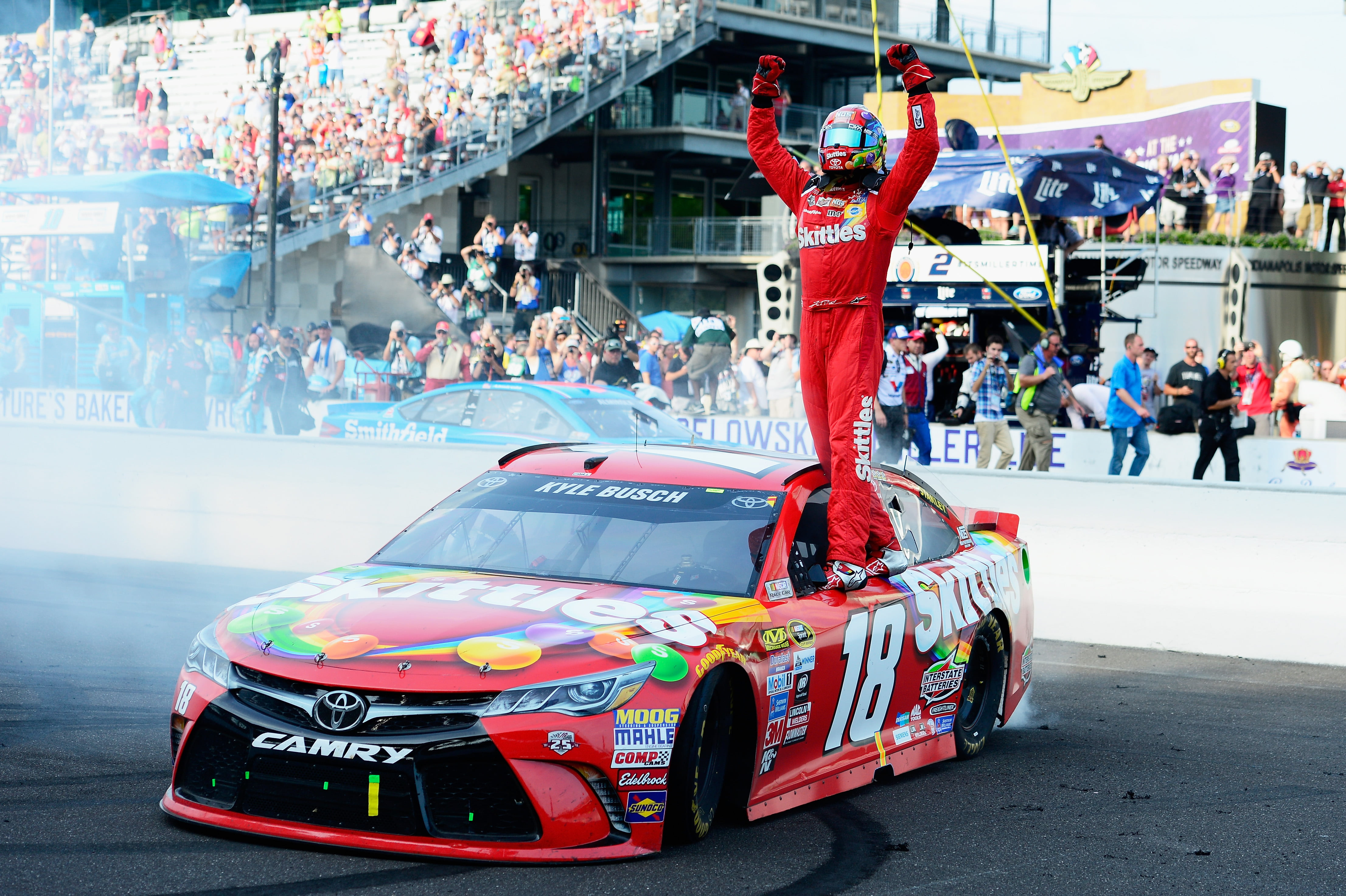Kyle Busch Makes History In Final Brickyard Run For