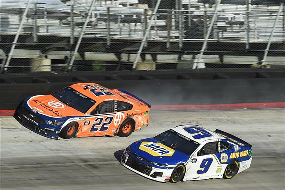 Elliott and Logano clash on wild afternoon in bristol
